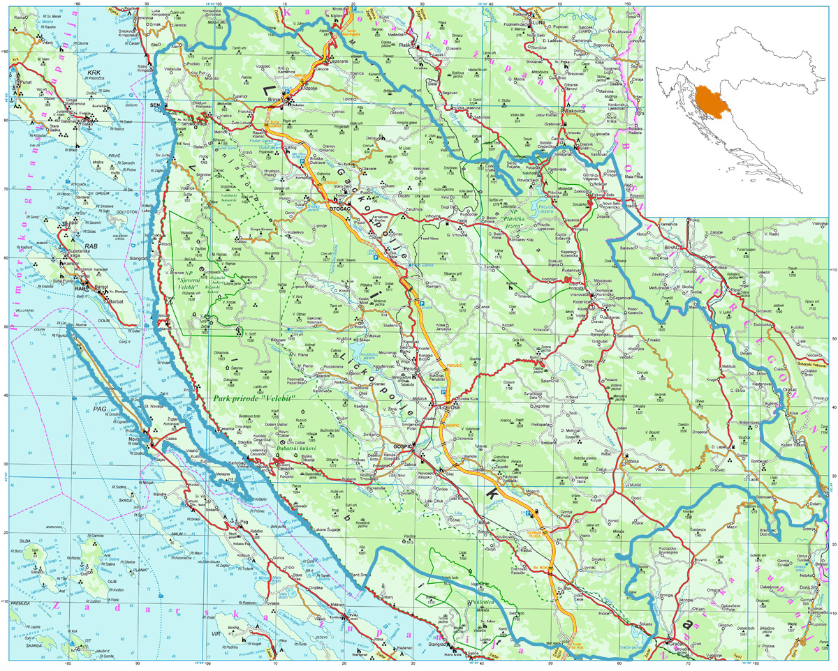 lika mapa LIKA ACTIVE   Cycle touring, trekking, hiking adventure in Lika  lika mapa
